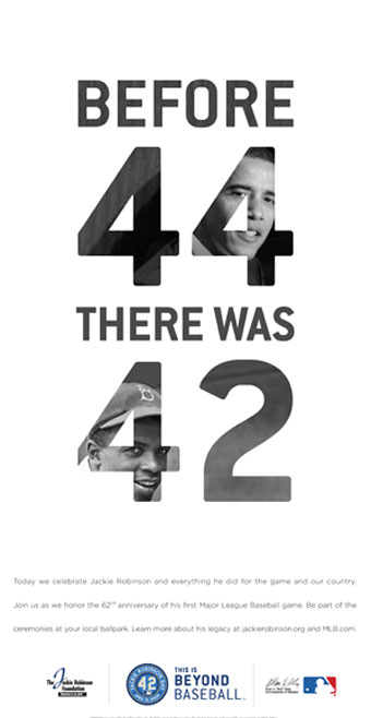 Obama…appears in Jackie Robinson Day campaign