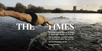 The Times 'be part of the times' by CHI & Partners