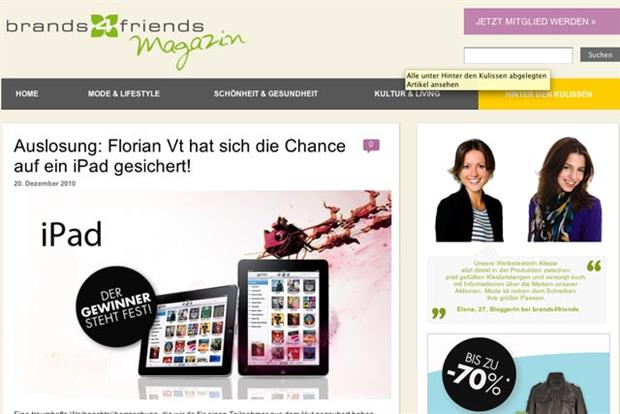 Brands4Friends: set for purchase by eBay for £128m