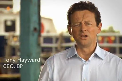 Tony Hayward: BP chief executive appears in new ad