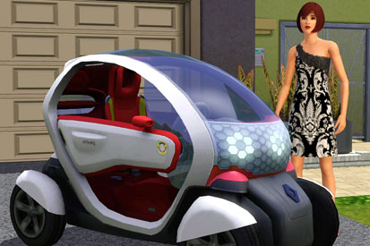 Renault is advertising on The Sims 3