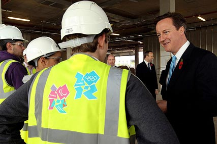 David Cameron: visiting Shoreditch yesterday