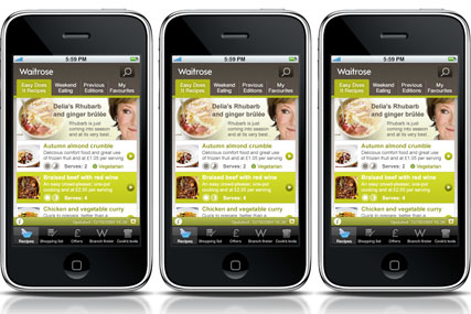 Waitrose: iPhone app and mobile website launched
