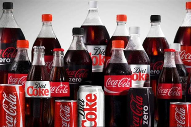 Coca-Cola cans and bottles