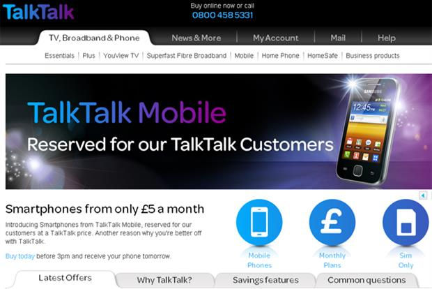 TalkTalk Mobile: new smartphone offer