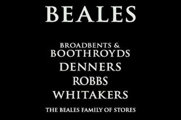 Beales: agreeds deal with Anglia Regional Co-operative Society