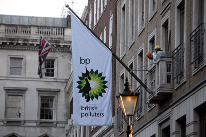 BP: hi-jacked by protesters