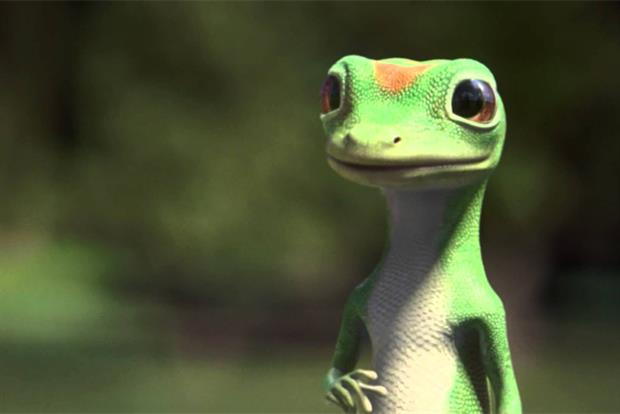 Geico: gecko CG character has become a celebrity in his own right