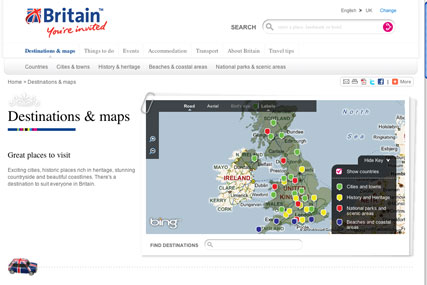 VisitBritain.com: providing more personalised content