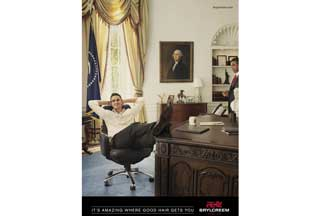 Kevin Pietersen in the Oval Office