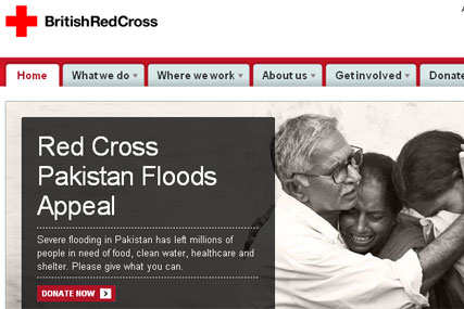 British Red Cross: revamps website