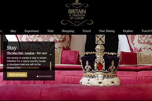 VisitBritain: partners Emirates for luxury marketing campaign