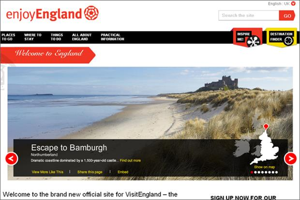 VisitEngland: wins funding the Government's Regional Growth Fund
