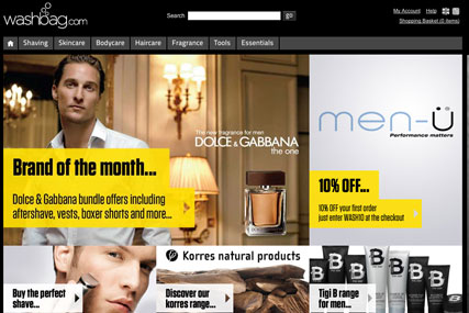 Washbag.com: The Hut Group expands with male-grooming website