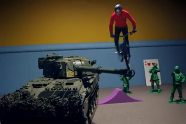 Red Bull: trials cyclist Danny MacAskill stars in the energy drink's film