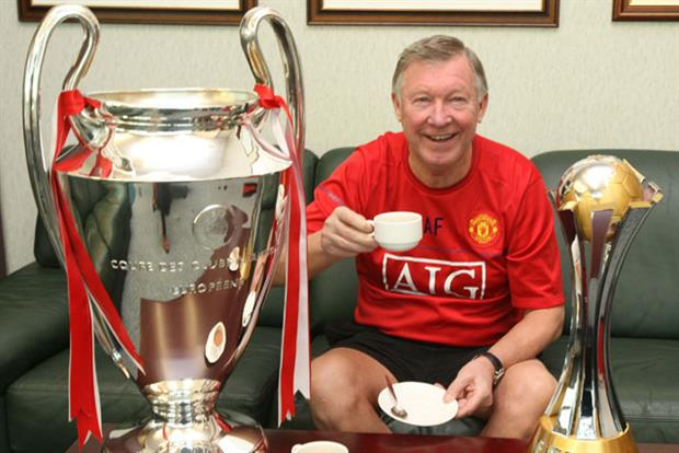 Sir Alex Ferguson: seen taking part in in a fundraiser for a Manchester children's hospital