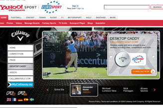 Callaway Golf microsite on Eurosport