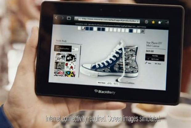 BlackBerry: highlights device's use of Flash