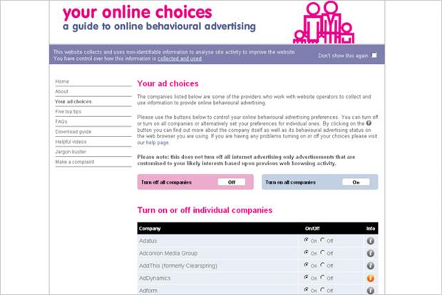IAB: relaunches Your Online Choices
