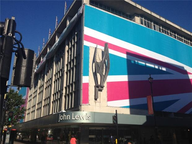John Lewis: showing the flag in support of the 2012 Games