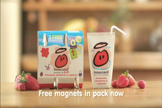 Innocent: supporting its Kids line with ad campaign