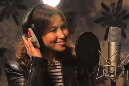 Ella's Kitchen: Rachel Stevens records songs for a children's album for the brand