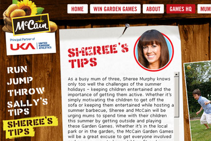 McCain: games promotion with Sheree Murphy