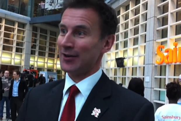 Jeremy Hunt: secretary of state for culture, Olympics, media and sport