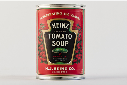Heinz: featuring original label on Cream of Tomato Soup cans