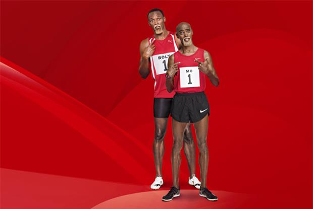 Virgin Media: brand ambassadors Usain Bolt and Mo Farah