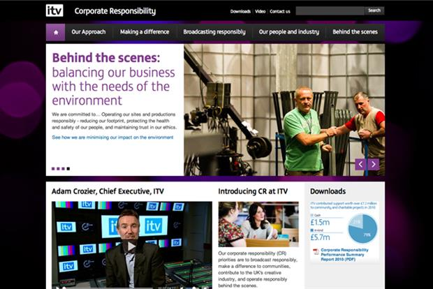 ITV: corporate responsibility website revamped