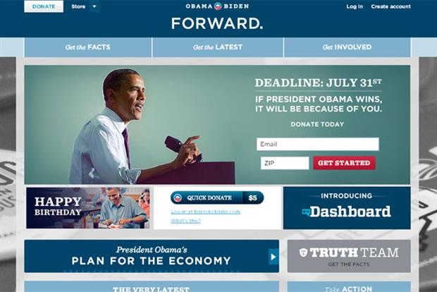 Barack Obama: campaign website