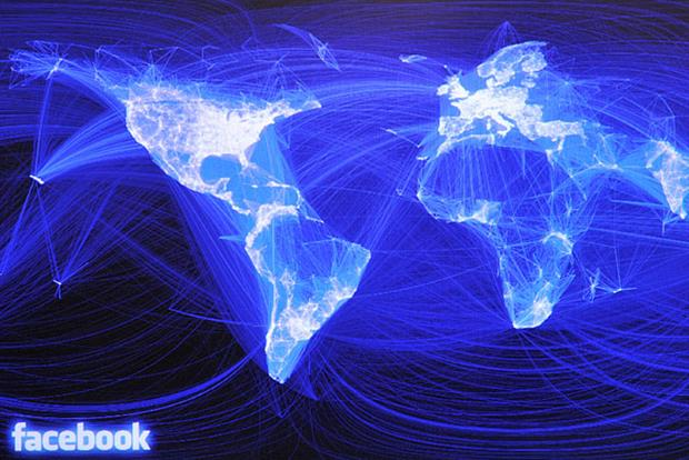 Facebook usage across the globe