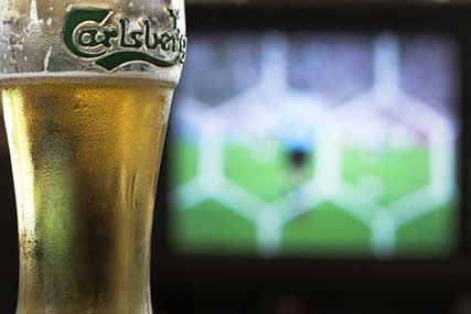 Carlsberg: staying at Wembley