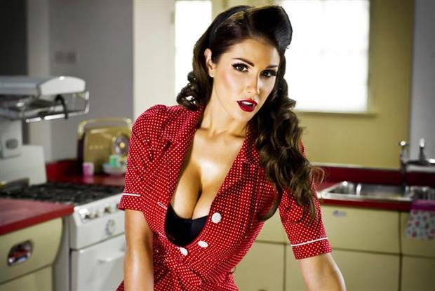 Lucy Pinder: model stars in interactive games for Lynx campaign