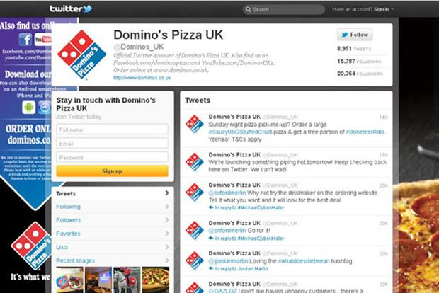 Domino's: runs 'reverse auction' on Twitter
