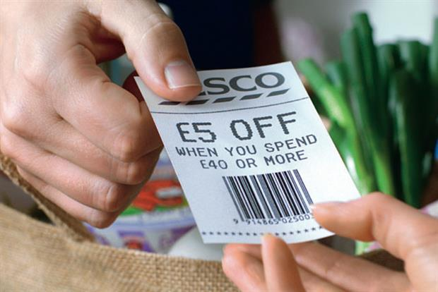 Tesco offer translates as 'give us your weekly shop, and we'll give you a fiver'