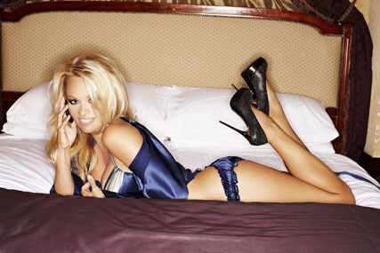Pamela Anderson: stars in promotional film for the Nokia N8 handset