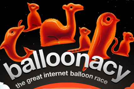Orange: relaunches Balloonacy internet race