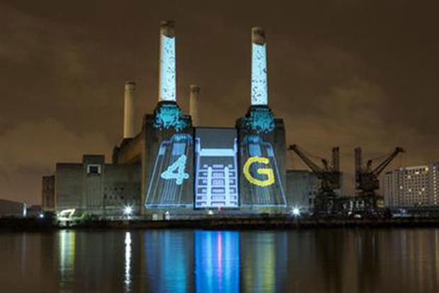 EE: marked the launch of its 4G services with a party at Battersea Power Station