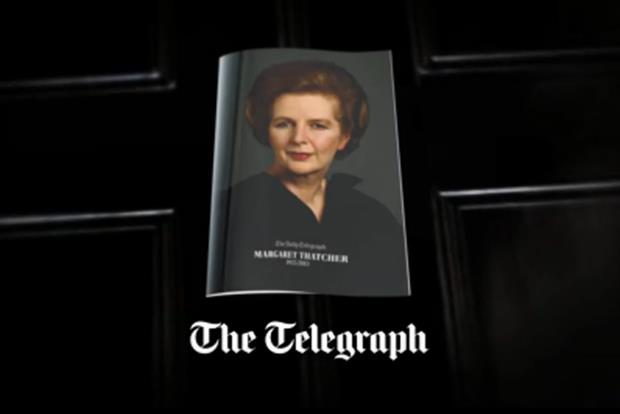 The Telegraph: runs Margaret Thatcher campaign