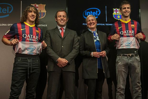 Intel: logo will appear on the inside of Barcelona's shirts
