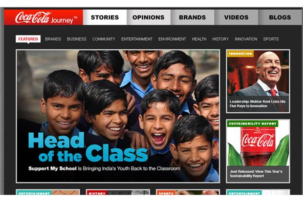 Coke promotes social causes and story-telling with Coca-Cola Journey 'magazine'