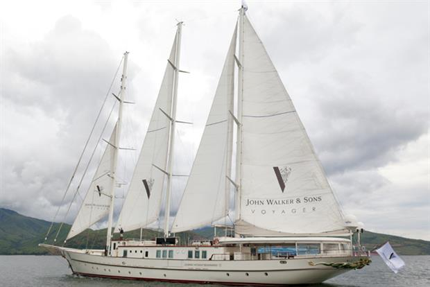 Johnnie Walker: yacht is travelling around the world