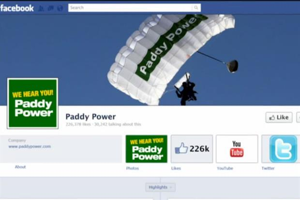 Paddy Power: launches Faecbook betting app
