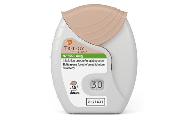 Trelegy Copd Respiratory Triple Combination Inhaler  Daily Mims