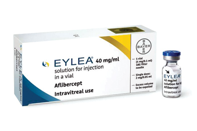 Following an initial treatment schedule of monthly injections for 3 months, aflibercept may be administered at two-monthly intervals thus reducing the risks associated with intravitreal administration