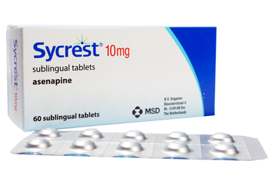 Sycrest (asenapine) can be used as monotherapy or in combination with other agents