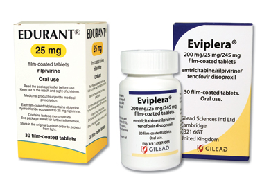 Two rilpivirine-containing products launched: Edurant is a single component tablet and Eviplera is a fixed-dose combination tablet also containing emtricitabine and tenofovir