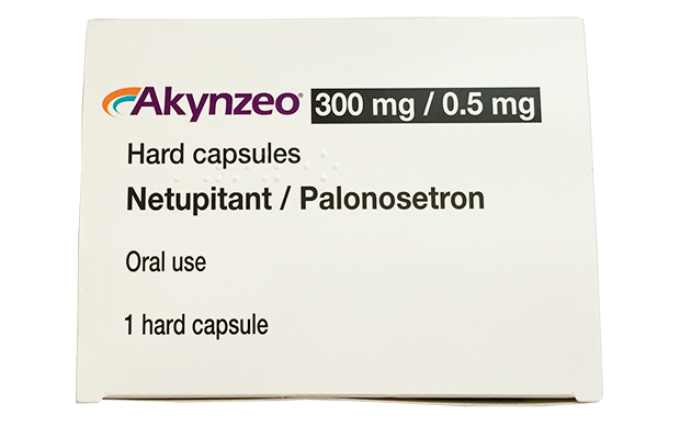 A single capsule of Akynzeo is given approximately 1 hour before the start of each chemotherapy cycle.